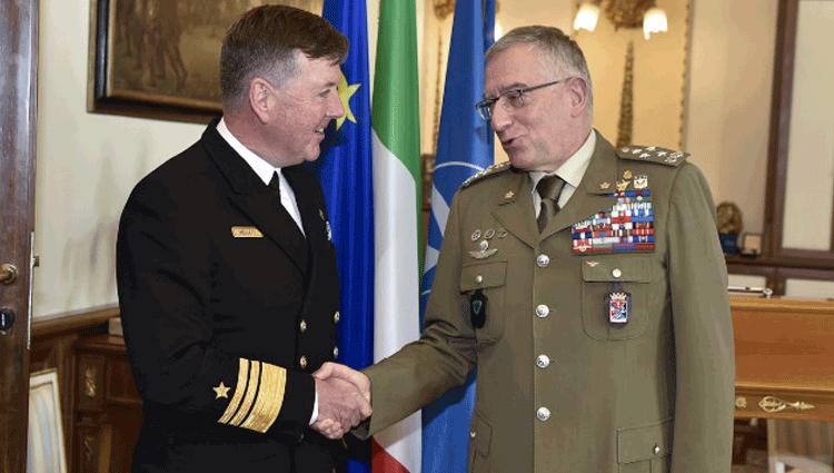 Il Capo di stato Maggiore della Difesa riceve il suo omologo Irlandese