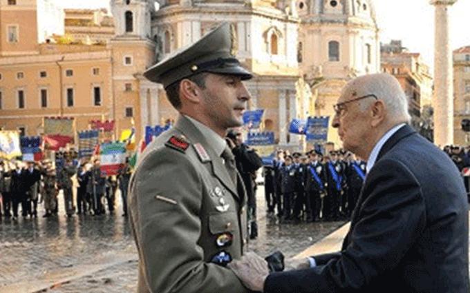 Andrea Adorno decorato con medaglia d'oro al valor militare