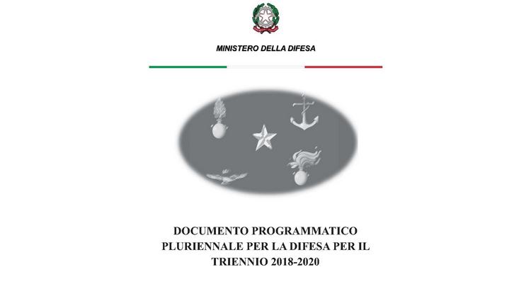 Documento programmatico pluriennale triennio 2018/2020
