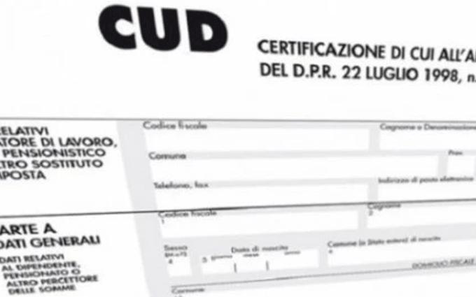 Certificazione Unica, CUD 2018