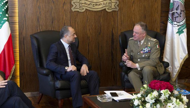 Missione Libano, incontro tra il Generale Dal Col e ministro Libanese