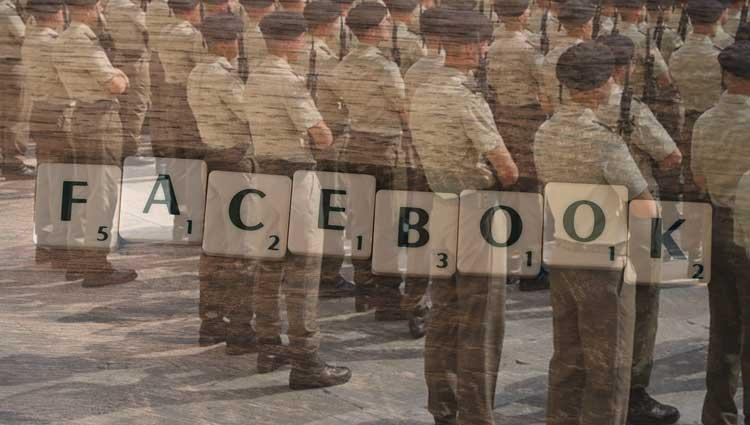 uso dei facebook da parte dei militari